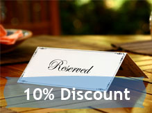 10% Discount, book today!